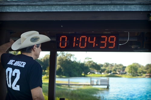 We now have a pace clock for the swim.