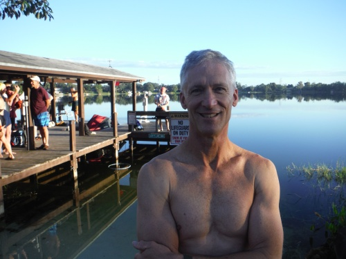 Steve Weis broke his own record in the 60-64 age group last Saturday with a time of 16:04.